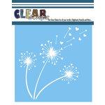 Clear Scraps - Mascils - 12 x 12 Masking Stencil - Heart Dandelion