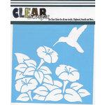 Clear Scraps - Mascils - 12 x 12 Masking Stencil - Humming Bird