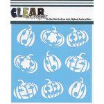 Clear Scraps - Halloween - Mascils - 6 x 6 Masking Stencil - Jack-O-Lanterns