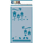 Clear Scraps - Mascils - 5 x 9 Layering Masking Stencil - Bird Houses