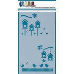 Clear Scraps - Mascils - 5 x 9 Layering Masking Stencil - Bird Houses