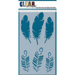 Clear Scraps - Mascils - 5 x 9 Layering Masking Stencil - Feather