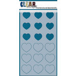 Clear Scraps - Mascils - 5 x 9 Layering Masking Stencil - Hearts with Dots