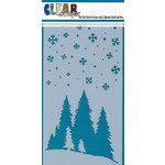 Clear Scraps - Mascils - 5 x 9 Layering Masking Stencil - Mountain Scene