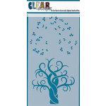 Clear Scraps - Mascils - 5 x 9 Layering Masking Stencil - Swirl Tree
