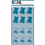 Clear Scraps - Mascils - 5 x 9 Layering Masking Stencil - Teddy Bears