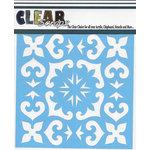 Clear Scraps - Mascils - 12 x 12 Masking Stencil - Mexican Tile