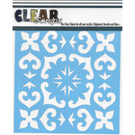 Clear Scraps - Mascils - 6 x 6 Masking Stencil - Mexican Tile