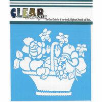 Clear Scraps - Mascils - 12 x 12 Masking Stencil - Mixed Basket