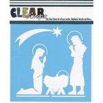 Clear Scraps - Christmas - Mascils - 6 x 6 Masking Stencil - Nativity
