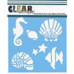 Clear Scraps - Mascils - 12 x 12 Masking Stencil - Ocean Friends