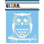 Clear Scraps - Mascils - 6 x 6 Masking Stencil - Owl