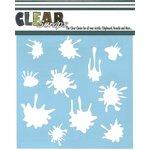 Clear Scraps - Mascils - 12 x 12 Masking Stencil - Paint Splat