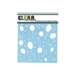 Clear Scraps - Mascils - 6 x 6 Masking Stencil - Party