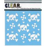 Clear Scraps - Mascils - 12 x 12 Masking Stencil - Pirate Skulls