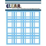 Clear Scraps - Mascils - 12 x 12 Masking Stencil - Plaid Pattern