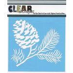 Clear Scraps - Mascils - 6 x 6 Masking Stencil - Pine Cone