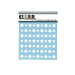 Clear Scraps - Mascils - 6 x 6 Masking Stencil - Polka Dots