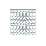Clear Scraps - Mascils - 6 x 6 Masking Stencil - Rain Drop