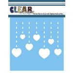 Clear Scraps - Mascils - 12 x 12 Masking Stencil - Rain Heart