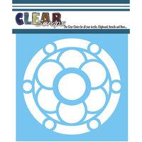 Clear Scraps - Mascils - 12 x 12 - Masking Stencil - Round Flower