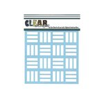 Clear Scraps - Mascils - 6 x 6 Masking Stencil - Retro Blocks