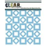 Clear Scraps - Mascils - 6 x 6 Masking Stencil - Retro Square