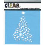 Clear Scraps - Christmas - Mascils - 6 x 6 Masking Stencil - Ribbon X-mas Tree