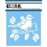 Clear Scraps - Mascils - 6 x 6 Masking Stencil - Robin Bird