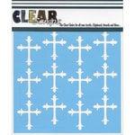 Clear Scraps - Mascils - 12 x 12 Masking Stencil - Roman Crosses