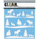 Clear Scraps - Mascils - 6 x 6 Masking Stencil - Rustic Forest