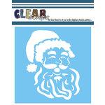 Clear Scraps - Mascils - Christmas - 6 x 6 Masking Stencil - Santa's Face