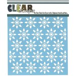Clear Scraps - Mascils - 6 x 6 Masking Stencil - Seamless Floral 1