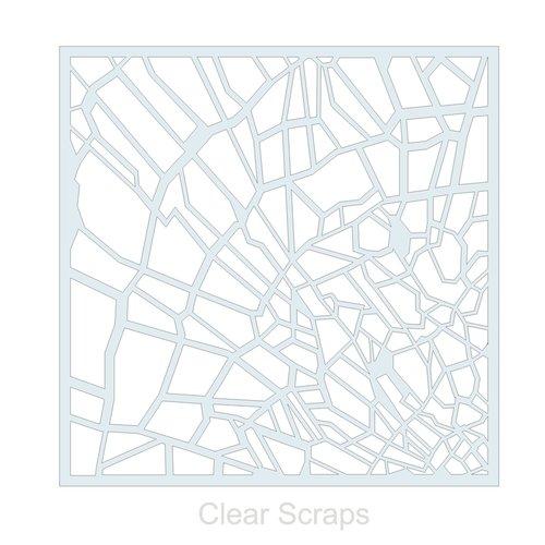 Clear Scraps - Mascils - 12 x 12 Masking Stencil - Shattered Glass