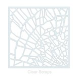 Clear Scraps - Mascils - 12 x 12 Masking Stencil - Shattered Glass