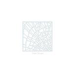 Clear Scraps - Mascils - 6 x 6 Masking Stencil - Shattered Glass