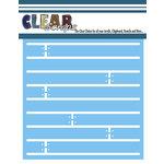 Clear Scraps - Mascils - 6 x 6 Masking Stencil - Shiplap