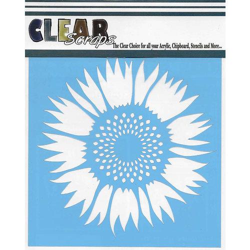 Clear Scraps - Mascils - 12 x 12 Masking Stencil - Sunflower