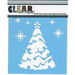 Clear Scraps - Christmas - Mascils - 6 x 6 Masking Stencil - Snow X-mas Tree