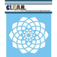 Clear Scraps - Mascils - 12 x 12 - Masking Stencil - Spiral Flower