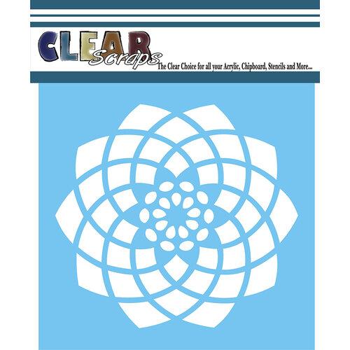 Clear Scraps - Mascils - 6 x 6 - Masking Stencil - Spiral Flower