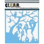 Clear Scraps - Mascils - Halloween - 12 x 12 Masking Stencil - Spooky Graveyard