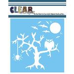 Clear Scraps - Mascils - Halloween - 12 x 12 Masking Stencil - Spooky Tree