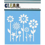 Clear Scraps - Mascils - 12 x 12 Masking Stencil - Spring Floral