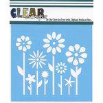Clear Scraps - Mascils - 6 x 6 Masking Stencil - Spring Floral