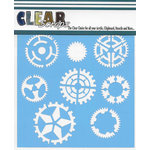 Clear Scraps - Mascils - 6 x 6 Masking Stencil - Sprockets Gears