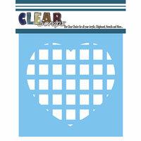 Clear Scraps - Mascils - 12 x 12 Masking Stencil - Square Heart