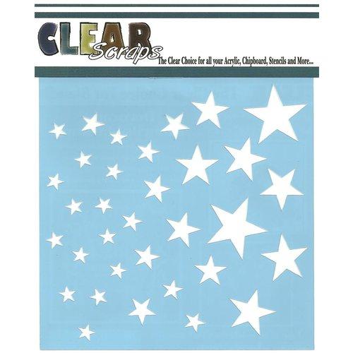 Clear Scraps - Mascils - 12 x 12 Masking Stencil - Stars