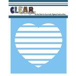 Clear Scraps - Mascils - 6 x 6 Masking Stencil - Stripe Heart