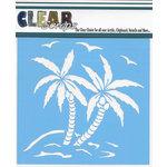 Clear Scraps - Mascils - 12 x 12 Masking Stencil - Summer Palm Trees